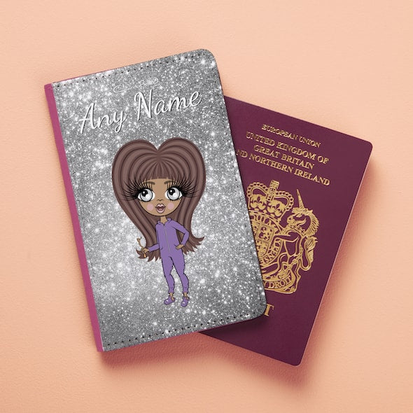 ClaireaBella Girls Glitter Passport Cover - Image 3