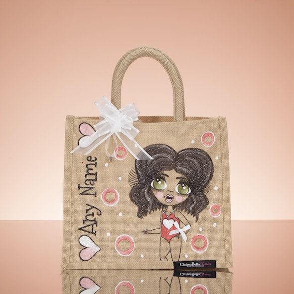 ClaireaBella Girls Holiday Jute Bag - Medium - Image 1
