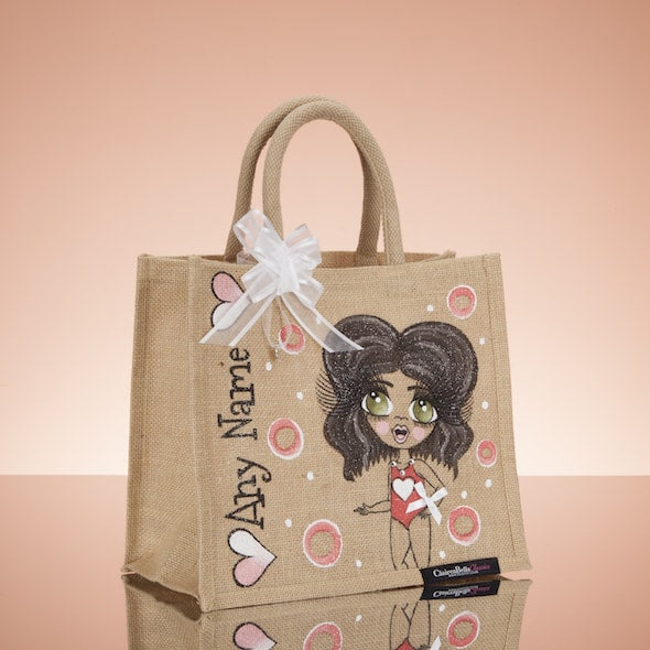 ClaireaBella Girls Holiday Jute Bag - Medium - Image 3