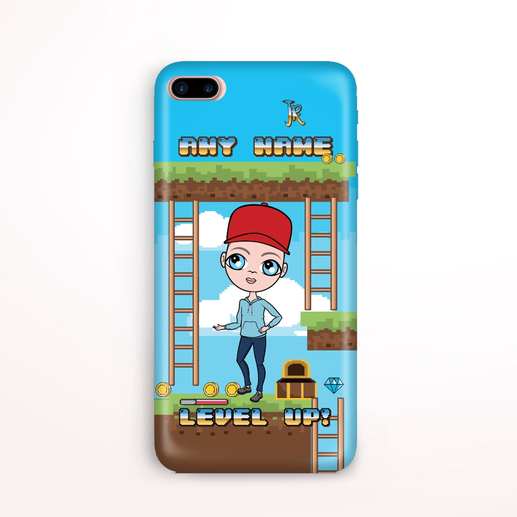 Jnr Boys Craft Blocks Phone Case - Image 1