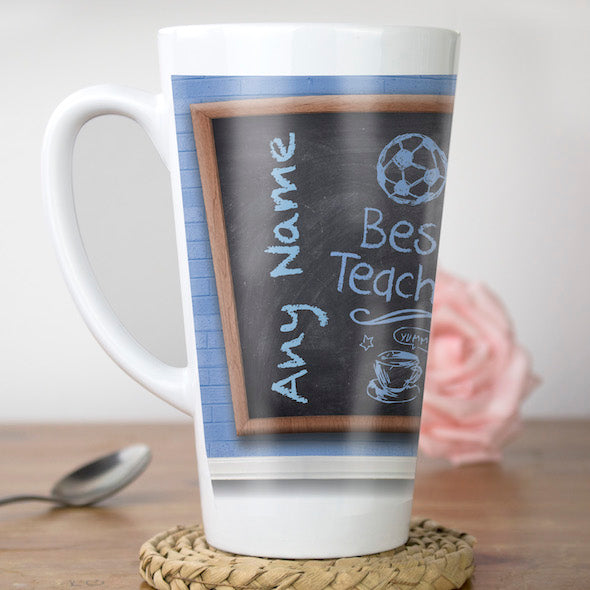 MrCB Best Teacher Latte Mug - Image 3