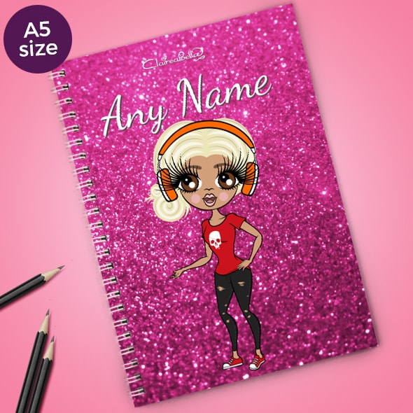 ClaireaBella Glitter Print A5 Softback Notebook - Image 1