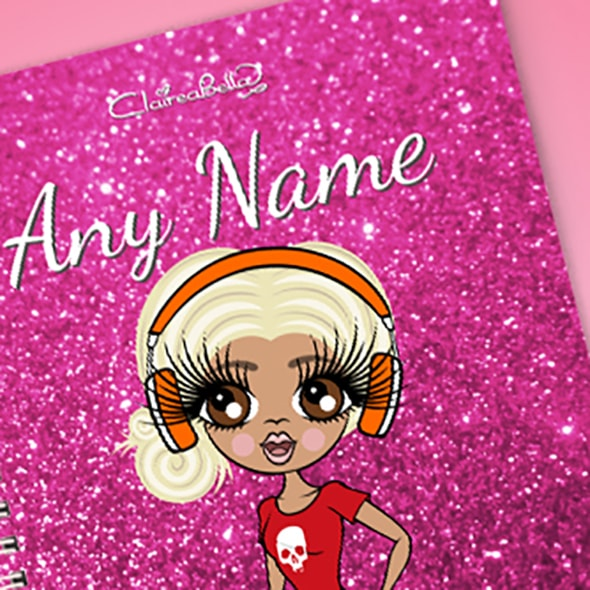 ClaireaBella Glitter Print A5 Softback Notebook - Image 2