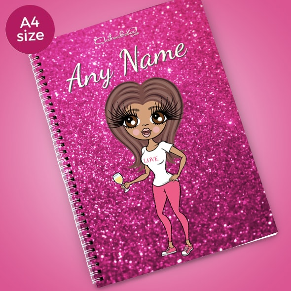 ClaireaBella Glitter Print A4 Softback Notebook - Image 1