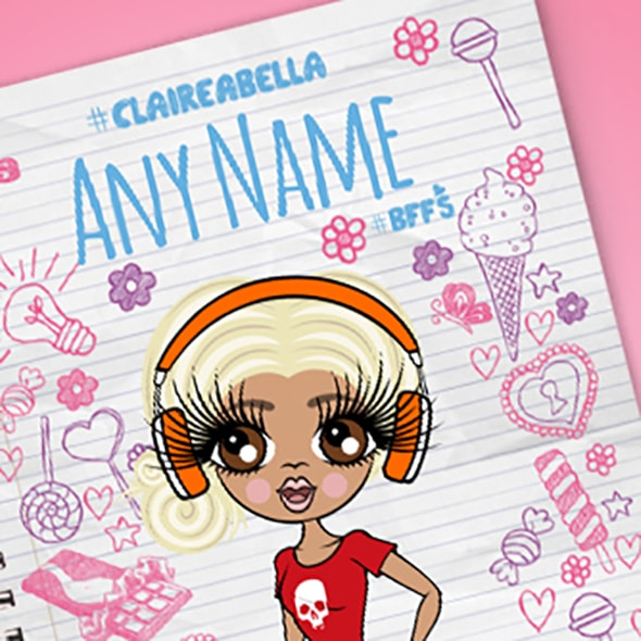 ClaireaBella Notebook Print A5 Softback Notebook - Image 2