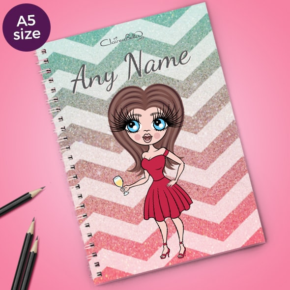 ClaireaBella Zig Zag Sparkle A5 Softback Notebook - Image 1