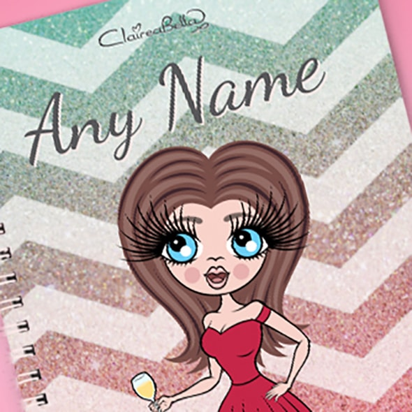 ClaireaBella Zig Zag Sparkle A5 Softback Notebook - Image 2