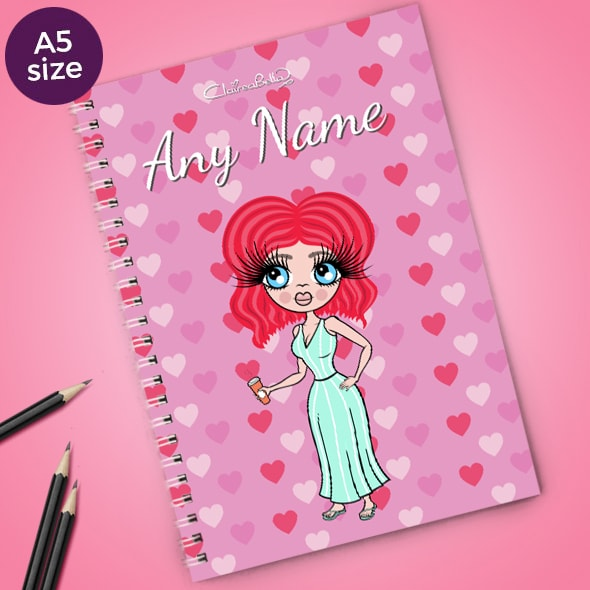 ClaireaBella Heart Print A5 Softback Notebook - Image 1