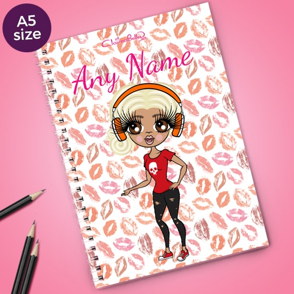 ClaireaBella Lip Print A5 Softback Notebook - Image 1