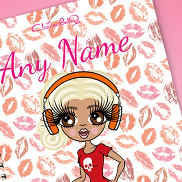 ClaireaBella Lip Print A5 Softback Notebook - Image 2