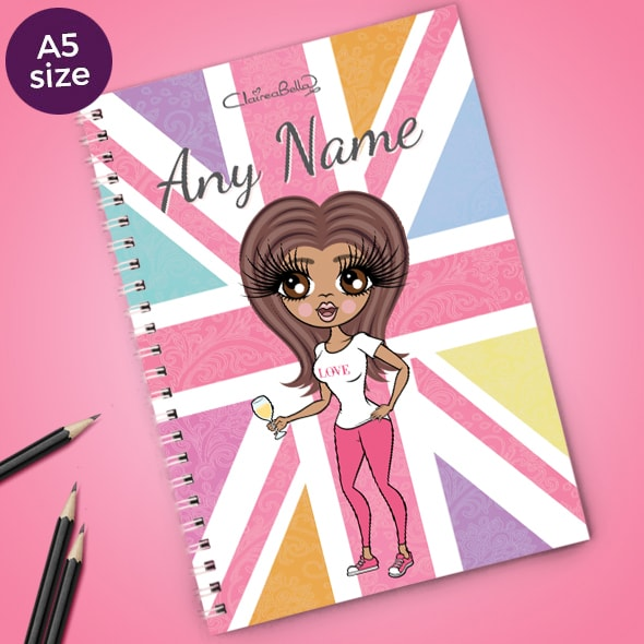 ClaireaBella Union Jack A5 Softback Notebook - Image 1
