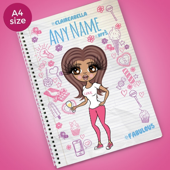 ClaireaBella Notebook print A4 Softback Notebook - Image 1