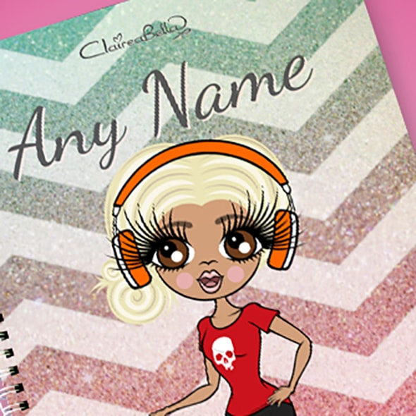 ClaireaBella Zig Zag Sparkle A4 Softback Notebook - Image 2