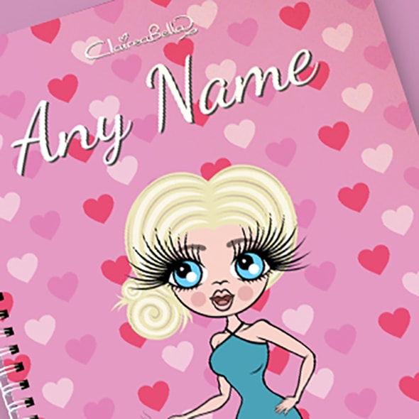 ClaireaBella Heart Print A4 Softback Notebook - Image 2