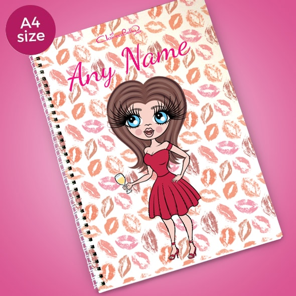 ClaireaBella Lip Print A4 Softback Notebook - Image 1