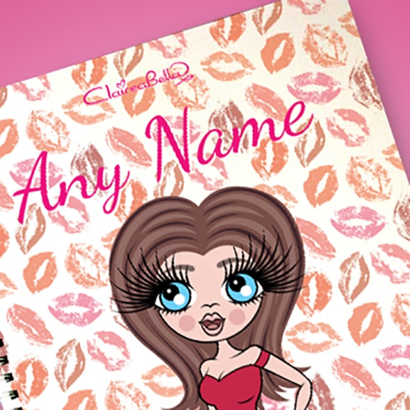 ClaireaBella Lip Print A4 Softback Notebook - Image 2