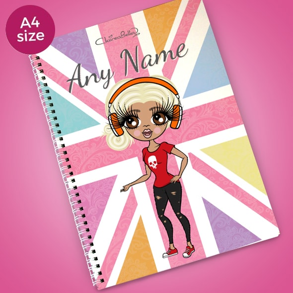 ClaireaBella Union Jack A4 Softback Notebook - Image 1