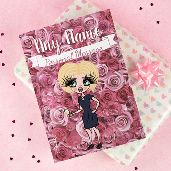 ClaireaBella Greetings Card - Pink Rose - Image 1