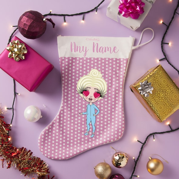 ClaireaBella Girls Polka Dot Christmas Stocking - Image 1