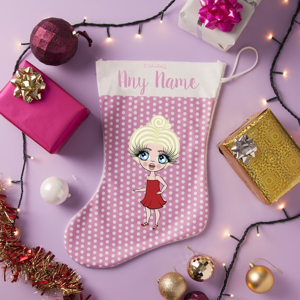 ClaireaBella Girls Polka Dot Christmas Stocking - Image 3