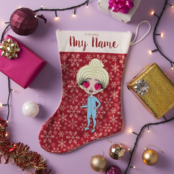 ClaireaBella Girls Snowflake Christmas Stocking - Image 1
