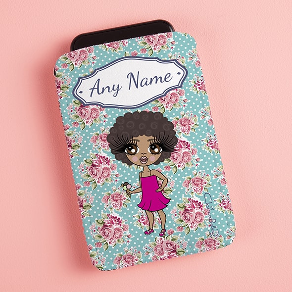 ClaireaBella Girls Rose Fabric Phone Case - Image 1