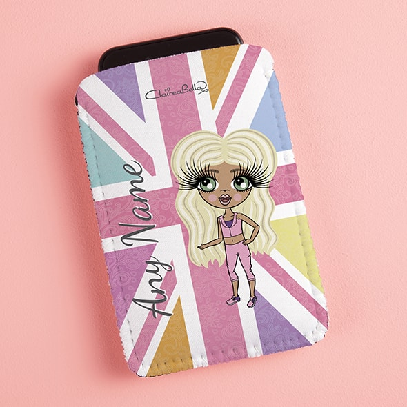 ClaireaBella Girls Union Jack Fabric Phone Case - Image 1