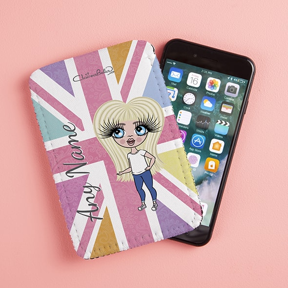 ClaireaBella Girls Union Jack Fabric Phone Case - Image 2