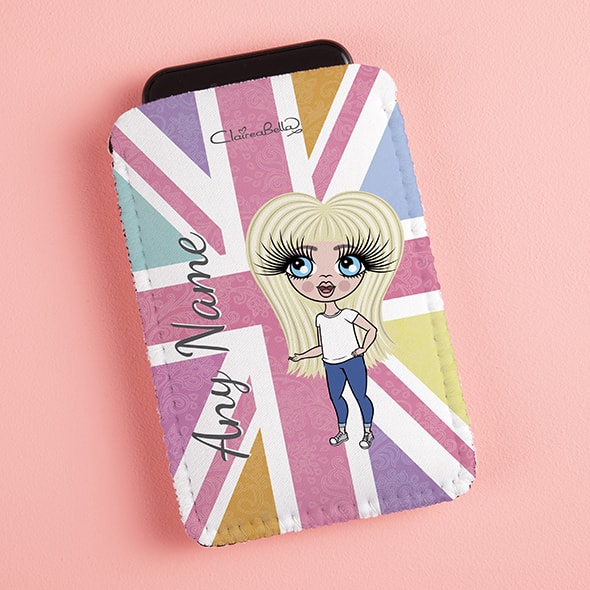 ClaireaBella Girls Union Jack Fabric Phone Case - Image 5