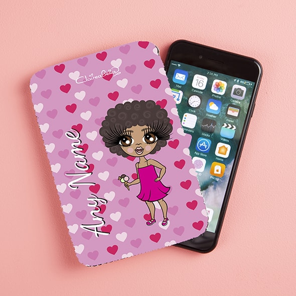 ClaireaBella Girls Hearts Fabric Phone Case - Image 1
