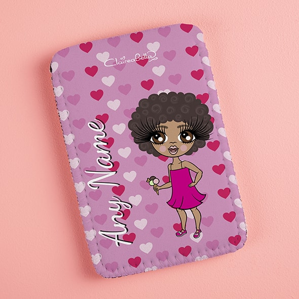 ClaireaBella Girls Hearts Fabric Phone Case - Image 2