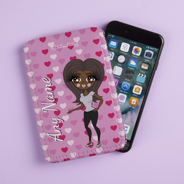 ClaireaBella Hearts Fabric Phone Case - Image 1