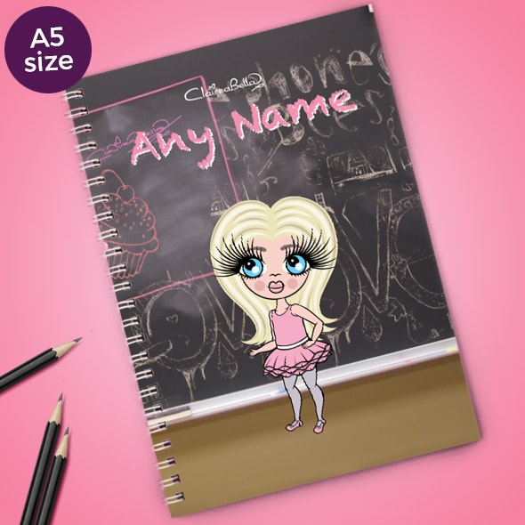 ClaireaBella Girls Chalkboard A5 Softback Notebook - Image 1