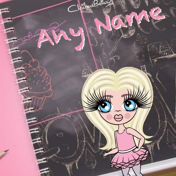 ClaireaBella Girls Chalkboard A5 Softback Notebook - Image 2