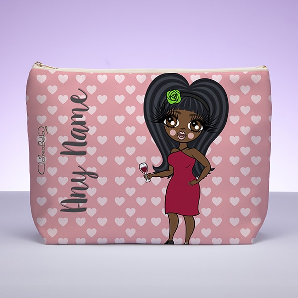 ClaireaBella Pink Hearts Wash Bag - Image 2