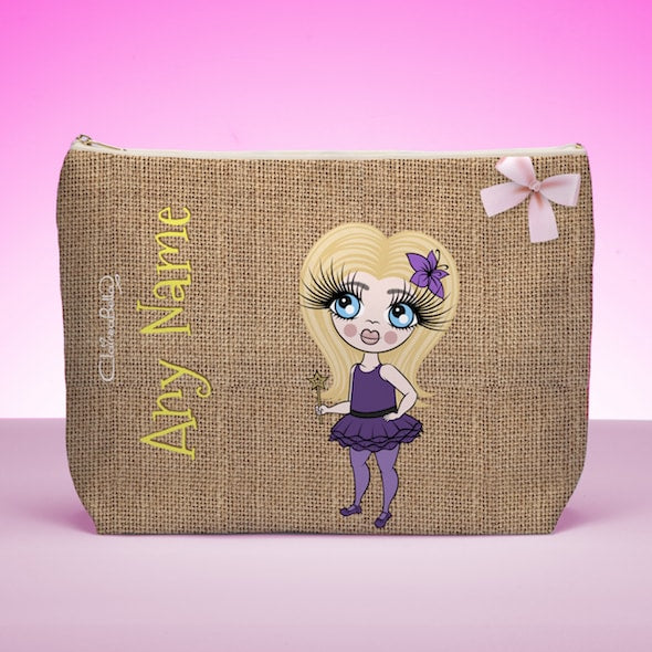 ClaireaBella Girls Jute Print Wash Bag - Image 1