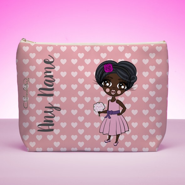 ClaireaBella Girls Pink Hearts Wash Bag - Image 1