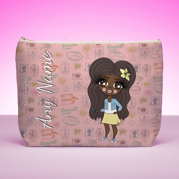 ClaireaBella Girls Travel Stamp Wash Bag - Image 1