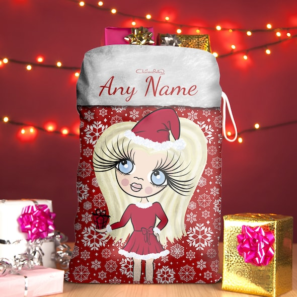 ClaireaBella Girls Snowflake Christmas Sack - Image 1