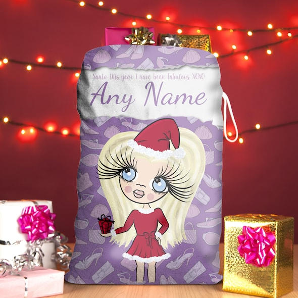 ClaireaBella Girls Fashionista Christmas Sack - Image 1