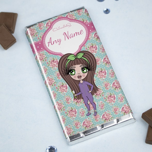 ClaireaBella Girls Rose Chocolate Bar - Image 1
