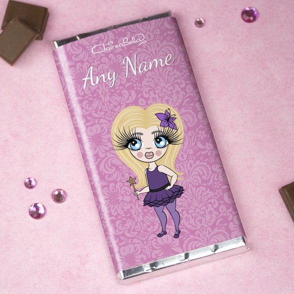ClaireaBella Girls Lilac Floral Chocolate Bar - Image 1