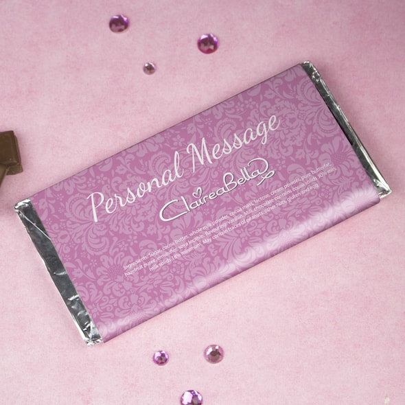ClaireaBella Girls Lilac Floral Chocolate Bar - Image 2