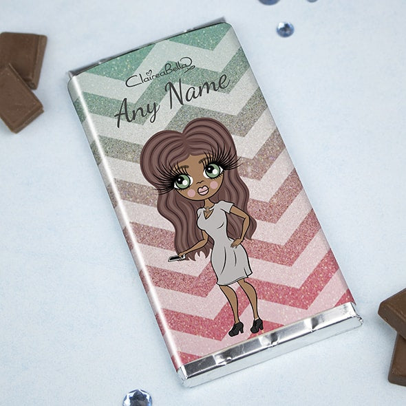 ClaireaBella Zig Zag Sparkle Chocolate Bar - Image 1