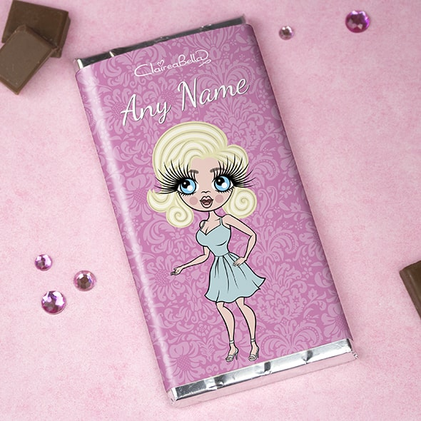 ClaireaBella Lilac Floral Chocolate Bar - Image 1