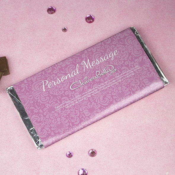 ClaireaBella Lilac Floral Chocolate Bar - Image 2