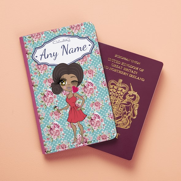 ClaireaBella Rose Passport Cover - Image 1