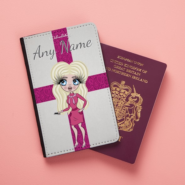 ClaireaBella Pretty England Flag Passport Cover - Image 1