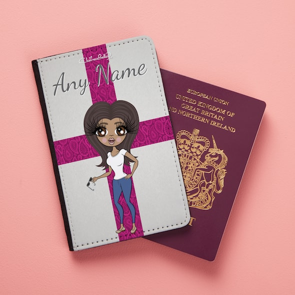 ClaireaBella Pretty England Flag Passport Cover - Image 2
