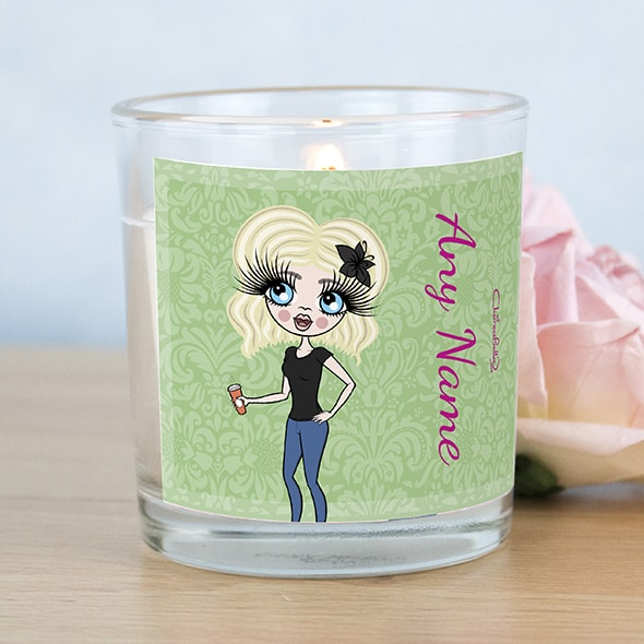 ClaireaBella Green Floral Scented Candle - Image 1